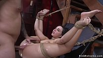 Prepared for ransom babe anal fucked in bondage