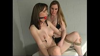Natali demore lesbian with her slave in straitjacket 2