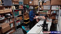 Teen Eden Sin tries dirty tricks on security guard to be set free preview image