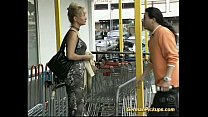 German lady is picked up at store