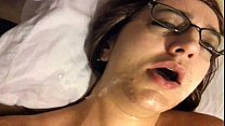 Vanessa Cox Sloppy blowjob w/facial while mastu...