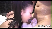 Voluptuous thai wife favors a relaxed man with a mouth job