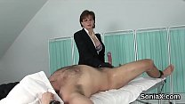 Cheating english milf lady sonia presents her b...
