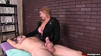 mean-Dominant teen handjob
