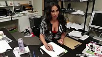 Mature Latina Hanjob At The Office's Thumb