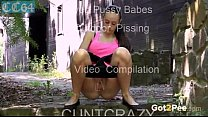 Shaved Babes Out Door Pissing Compilation