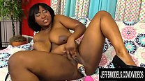 Natural Jumbo Tits Ebony Plumper Marie Leone Gets Drilled by a Machine porn thumbnail
