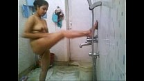 my gf.bathing