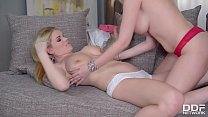 Blonde Glamour Nymphos Donna Bell & Tasha Holz Share Massive Double Dong
