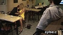 Orgy in restaurant with customers before CFNM p...