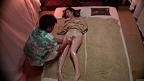 Image: Subtitled Japanese massage clinic busty woman oil treatment