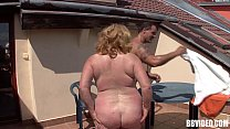 Fat mature german whore fuck outdoors