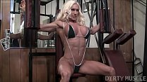 Naked Female Bodybuilder Ashlee Chambers Fucks Banana video