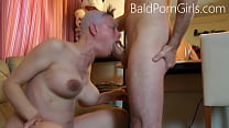 Bald headed slut deept-throat humiliation - Bal...