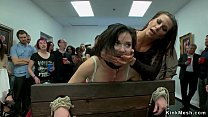 Tied slut anal fucked in public gallery
