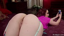 Milf motivates redhead with finger in ass
