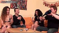 Two Natural Amateur Couples Sharing