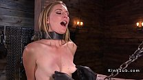 Pinched nipples blonde got pussy tortured - 9Club.Top