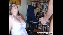 Busty mature amateur Milf sucks and fucks Thumbnail