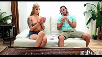 Tattooed blonde gf anal fucked by pervert guy in pov