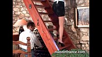 French maid gets her ass filled with cock and f... thumb