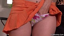 Horny mom caught toying son's girlfriend