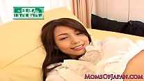 Mature japanese milf squirting before facial
