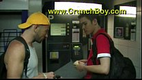 JESS ROYAN creampie an asian twink on public toilett