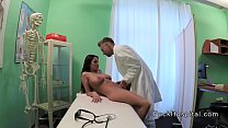 Doctor pounding huge boobs brunette