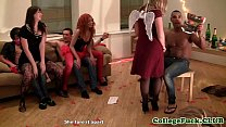 Euro redhead fucked and fingered for xxxmas