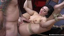 Doggy and anal bdsm sex for brunette