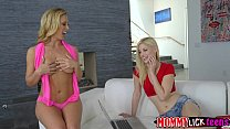 Cute babe Charlottes pussy gets licked by her mom Cherie
