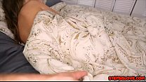 Teen Brooke Bliss fools around with stepbro and they do taboo things