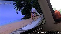 Big ass stepsister hammered from behind at yoga session POV