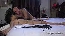 august ames cumshot - Stunning Brunette Slave Anal Fucked In Bed thumbnail