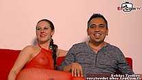 first time threesome for german girlfirend at casting