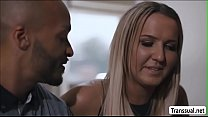 TS Kayleigh finally gets anal by a BBC