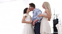 Firstbgg.com - Michelle Can & Stefy Shee - Awesome Threesome With Bride And Her Bridesmaid