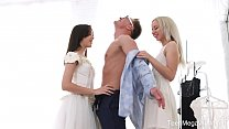 - Michelle Can & Stefy Shee - Awesome Threesome With Bride and Her Bridesmaid - 9Club.Top