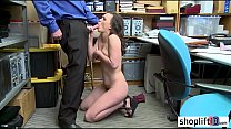 Hot petite MILF thief banged by a perverted policeman