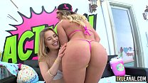 TRUE ANAL Naughty anal threesome with Cali and Lilly - 9Club.Top