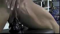 naked female bodybuilder angela salvagno and her beautiful big clit