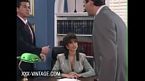 Big boobed Sarah Young fucked on the office table