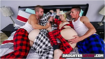 Everly Haze, Sophia Sweet In Daught Help To Keep Warm
