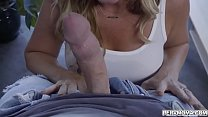 Busty cougar Janna Hicks spreads her pussy and got fucked by her stepson.She likes it when he drilled her pussy and loaded her face with a hot cum. Image