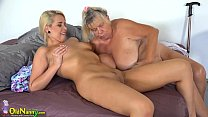 OLDNANNY Teen girl and her big boobs and wet pussy pornhub video