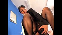 Gorgeous bossy lady uses a male for her pleasure