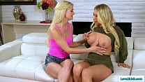 Big Tits Stepmom And Teen Licking Pussy