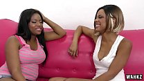 Pretty Black Lesbians Scisssor Their Moist Pussies! HD