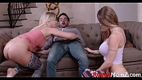 GF and MOM fight over this lucky guy صورة